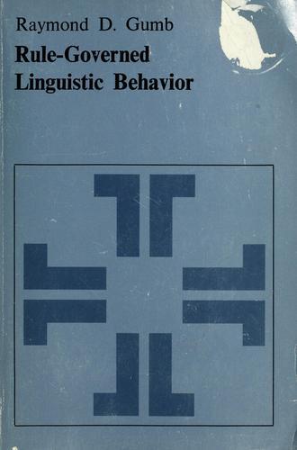 Download Rule-governed linguistic behavior.