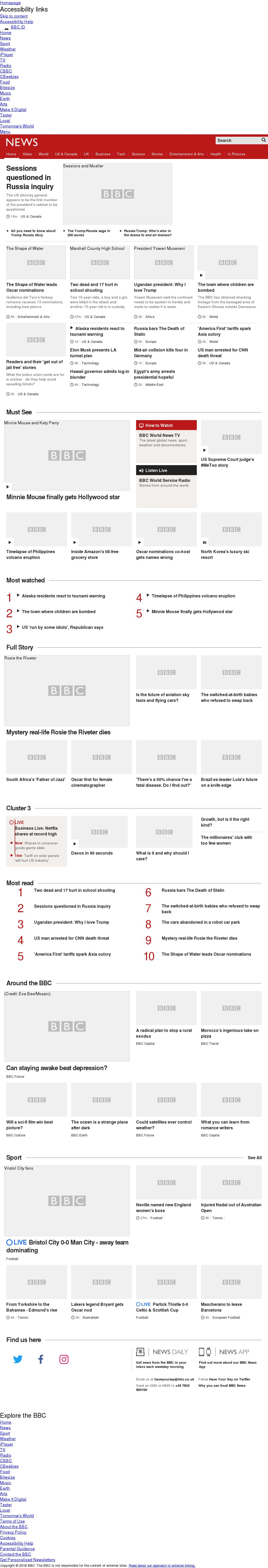 BBC at Tuesday Jan. 23, 2018, 8 p.m. UTC